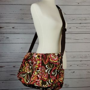 Vera Bradley Crossbody Bookbag/baby bag